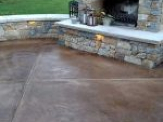 Slate Stained Concrete Overlay | Chardon Ohio