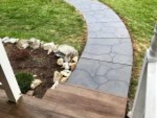 Flagstone Stamped Concrete Overlay | Chardon Ohio