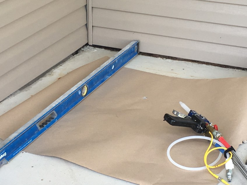 Void Filling And Stabilizing Geauga Coatings Epoxy