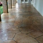 Flagstone Stamped Concrete Overlay | Chardon Ohio